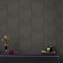 Graham & Brown Boutique Moonstone Textured Black/Gold Wallpaper