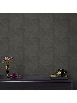 Boutique Moonstone Textured Black/Gold Wallpaper