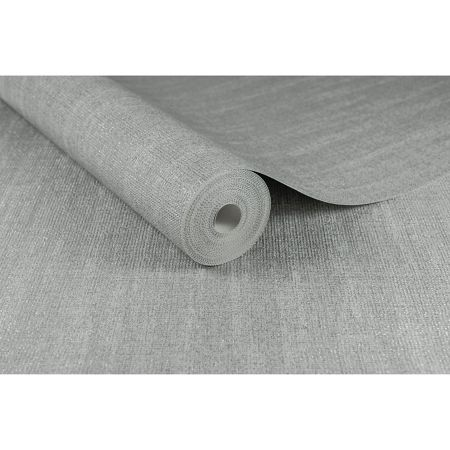Graham & Brown Boutique Chenille Metallic Grey/Silver Wallpaper