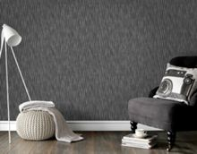 Graham & Brown Black & Silver Stripe Wallpaper with Glitter