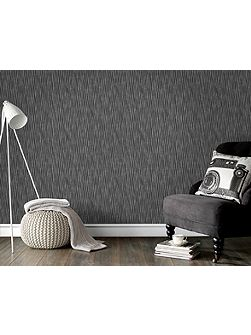 Black & Silver Stripe Wallpaper with Glitter