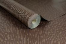 Graham & Brown Vienna Bronze Stripe Wallpaper with Glitter