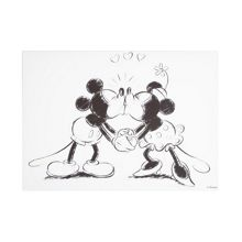 Disney Frozen Retro mickey & minnie kissing wall art