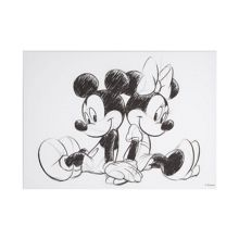 Disney Frozen Retro mickey & minnie sketch canvas