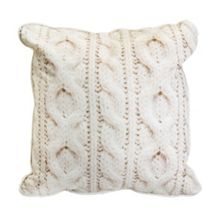 Graham & Brown Cable Knit Printed Cushion
