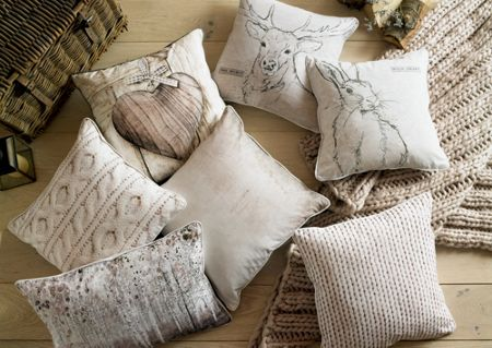 Graham & Brown Chunky Knit Printed Cushion