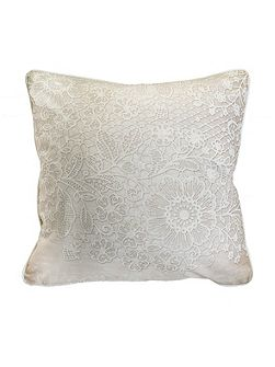 Printed Lace 2 Effect Cushion