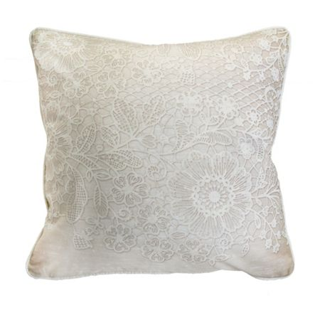 Graham & Brown Printed Lace 2 Effect Cushion