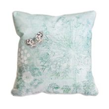 Graham & Brown Green Printed Meadow Cushion