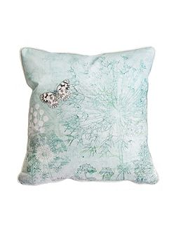 Green Printed Meadow Cushion