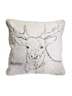 Printed Free Spirit Stag Cushion