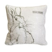 Graham & Brown Printed Wild Heart Hare Cushion