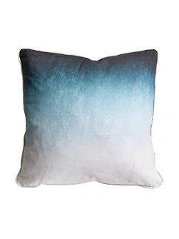 Blue Ink Ombre Cushion