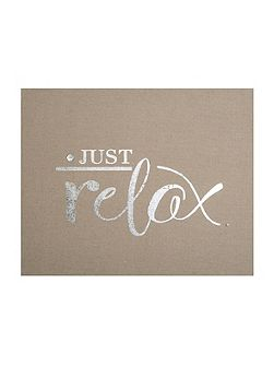 Just Relax Embellished Fabric Wall Art