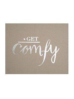 Get Comfy Embellished Fabric Wall Art