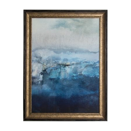 Graham & Brown Blue Ink Abstract Framed Print Wall Art