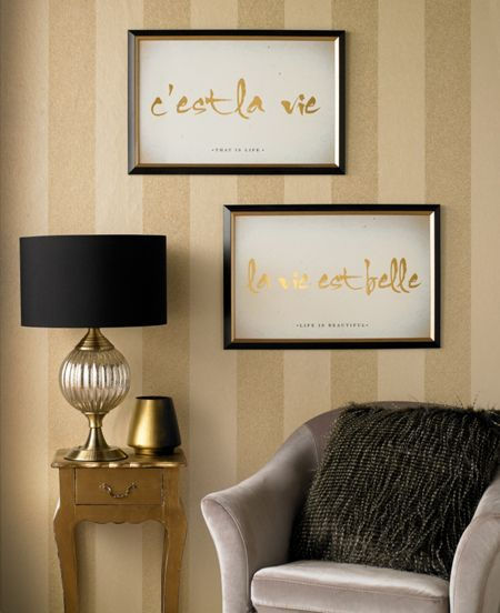 Graham & Brown Cest La Vie Metallic Framed Print Wall Art