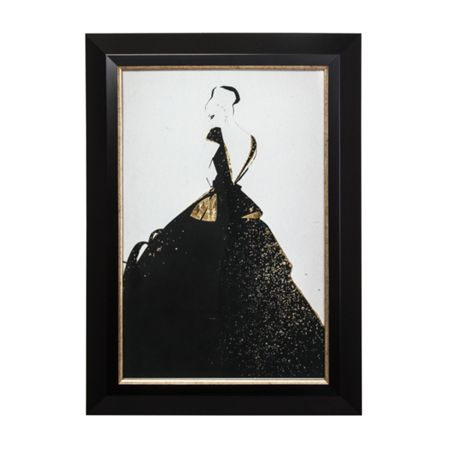 Graham & Brown Glamour Fashion Metallic Framed Print Wall Art