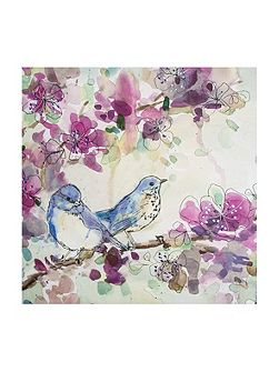 Stitched Spring Birds Canvas