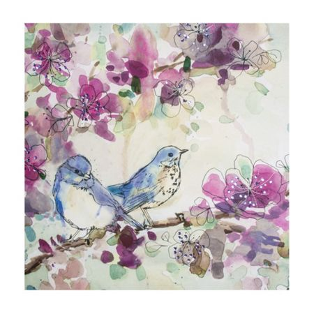 Graham & Brown Stitched Spring Birds Canvas