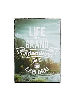 Life Is An Adventure Printed Wall Art