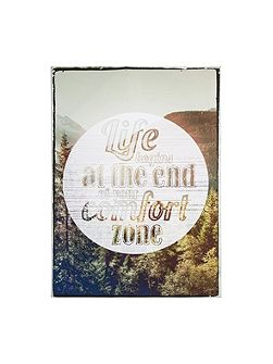 Life Begins Quote Wall Art