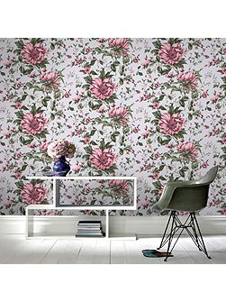 Botanical Ditsy Floral Pink Wallpaper
