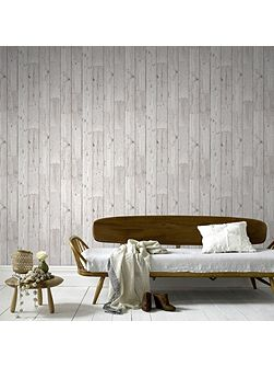 Wood Panel Plank Effect Wallpaper