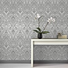 Graham & Brown Glamour Damask Black/White Wallpaper