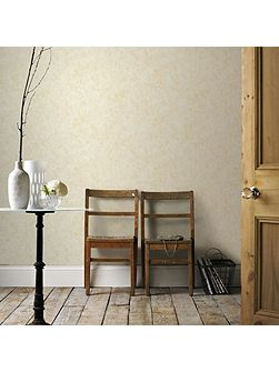 Samba Textured Plain Metallic Cream Wallpaper