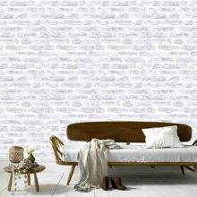 Graham & Brown White Realistic Brick Wall Effect Wallpaper