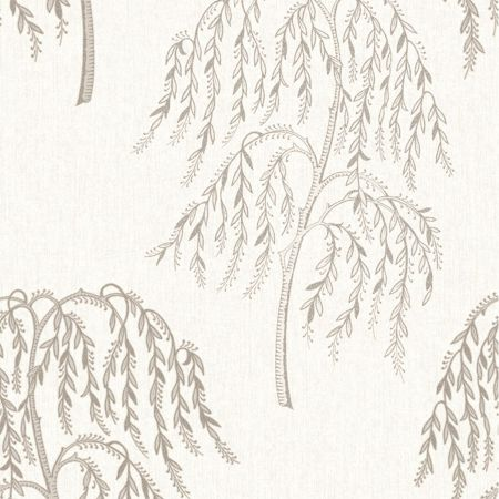 Graham & Brown Willow Tree Glitter Metallic Champagne Wallpaper