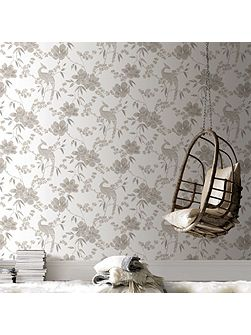 LLB Singapore Floral Oriental Gold Wallpaper