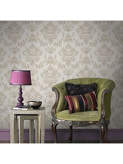 LLB Johor Damask Subtle Glitter Gold Wallpaper