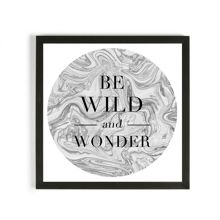 Graham & Brown Be wild & wonder framed print