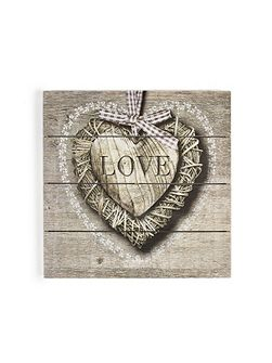 Love print on wood