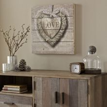 Graham & Brown Love print on wood