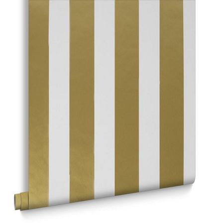 Graham & Brown Gold Metallic Stripe Wallpaper