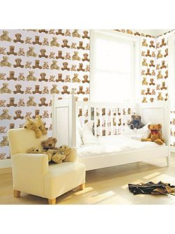 Kids Teddy Bears Brown Wallpaper