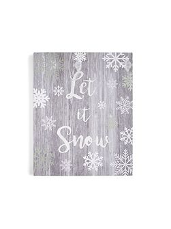 Let it snow canvas