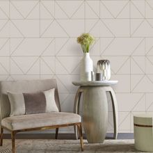 Graham & Brown Taupe & Khaki Kellys Geo Designer Wallpaper