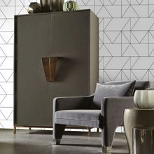 Graham & Brown Black & White Kellys Geo Designer Wallpaper