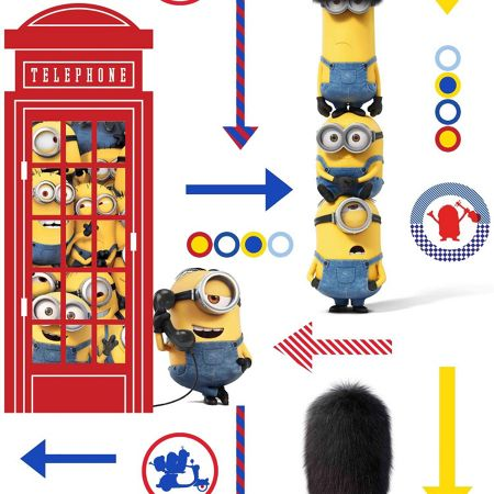 Graham & Brown Minions Hello London Wallpaper