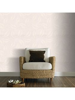 White Fern Floral Paintable Wallpaper