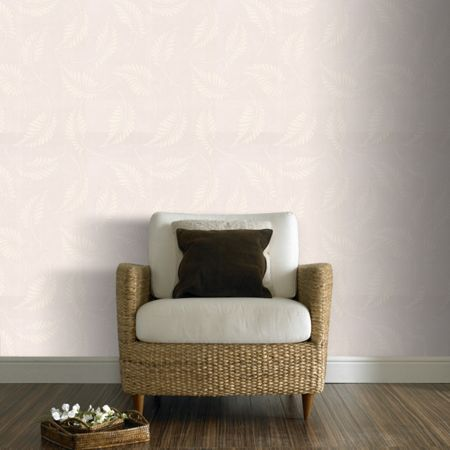 Graham & Brown White Fern Floral Paintable Wallpaper