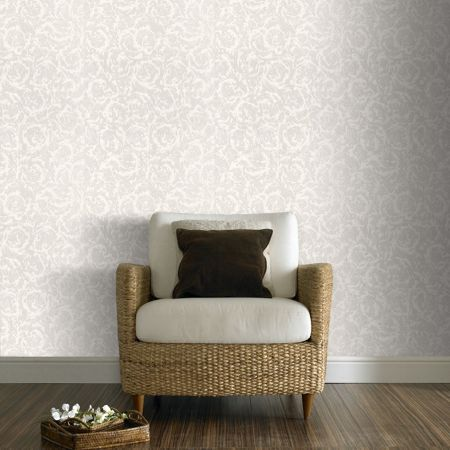 Graham & Brown White swirl wallpaper