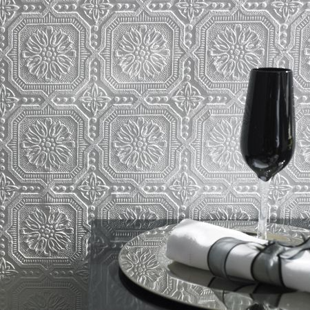 Graham & Brown White buckingham wallpaper