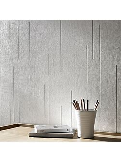 White Linear Textured Wallpaper