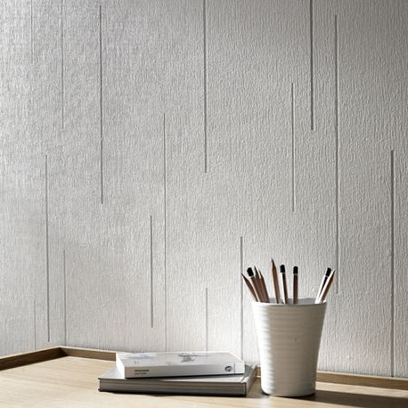 Graham & Brown White Linear Textured Wallpaper