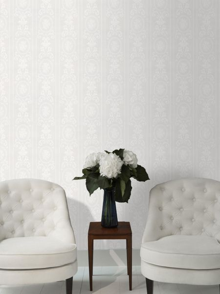 Graham & Brown White Cameo Stripe wallpaper